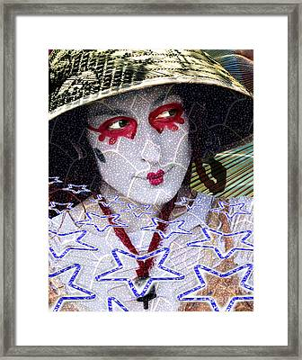 Magic Lady Goddess Framed Print by Keith Dillon
