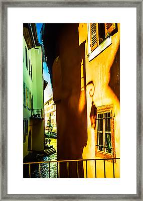 Magic Lantern On The Walls Of Annecy Framed Print by Jenny Rainbow