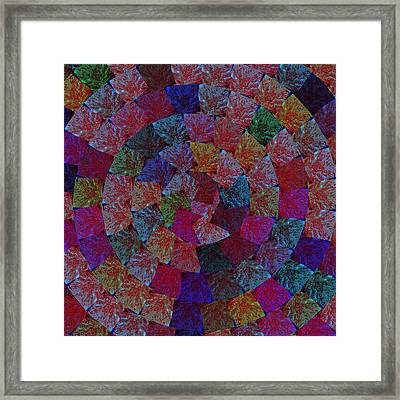 Magic Marbles Marvellous Colorful Pattern Spiral Sparkle Wonderland Kidsroom School Nursary Daycare  Framed Print by Navin Joshi