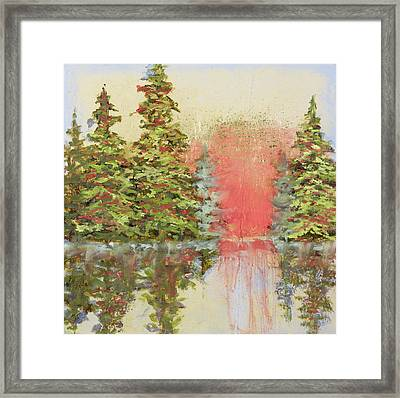 Framed Print featuring the painting Magic Moment by Vic  Mastis
