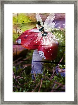 Magic Moshroom Fairy  Framed Print by Nathan Wright