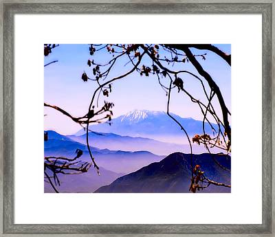Magic Mountain Framed Print by Camille Lopez