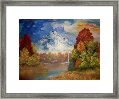 Magic Mountain Framed Print
