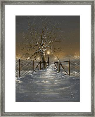 Magic Night Framed Print by Veronica Minozzi