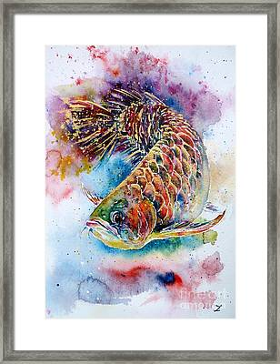 Magic Of Arowana Framed Print by Zaira Dzhaubaeva