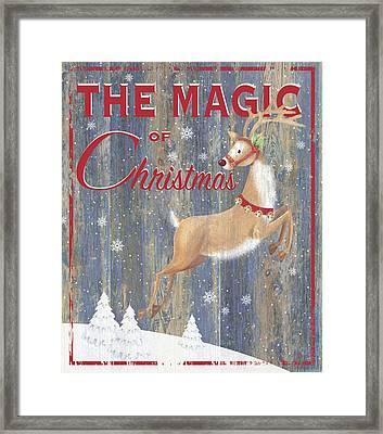 Magic Of Christmas Framed Print by P.s. Art Studios
