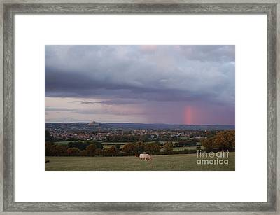 Magic Of Glastonbury Tor Framed Print
