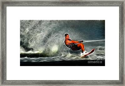Water Skiing Magical Waters 2 Framed Print by Bob Christopher