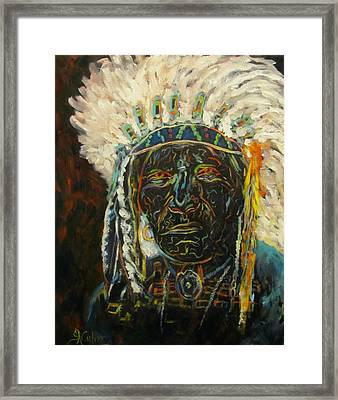 Magic Powers,  Native American Indian Chief Framed Print