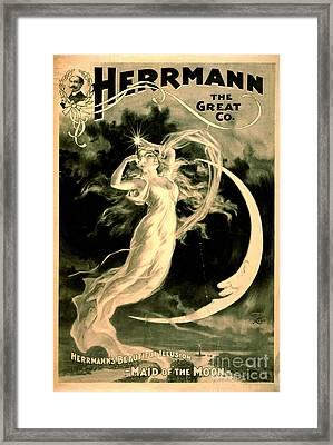 Magic Show Playbill 1898 Framed Print by Padre Art