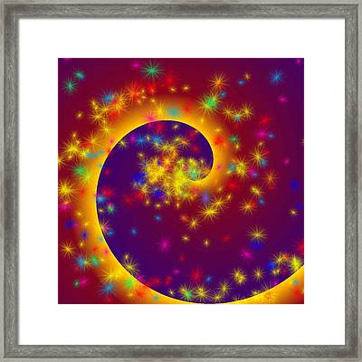Framed Print featuring the painting Magic Spiral by Persephone Artworks