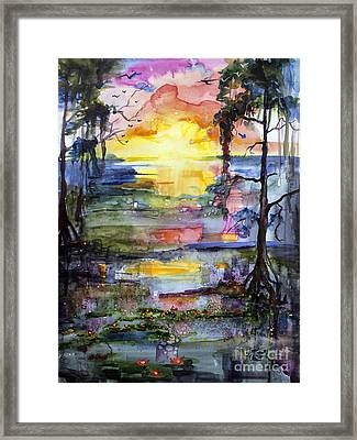 Magic Sunrise In The Oke Georgia Framed Print