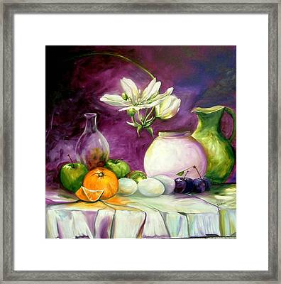 Magic Table With 3 Wishes Framed Print by Elizabeth Kawala