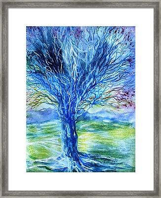 Magic Thorn Tree The Celtic Tree Of Life Framed Print by Trudi Doyle