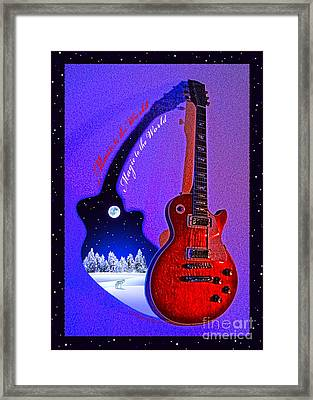 Magic To The World... Music To The World .2 Framed Print by Gem S Visionary
