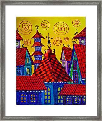 Magic Town 4 Framed Print