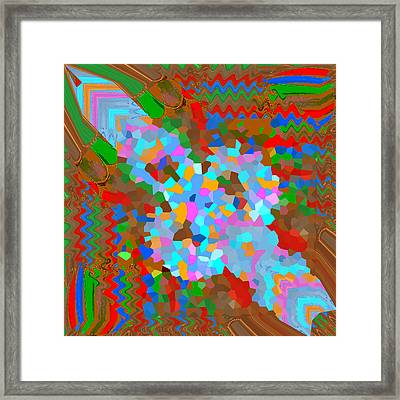 Magic Wand Cosmic Healing Energy Filled Is A Result Of Working On My Digital Canvas While Listening  Framed Print