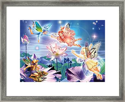 Magic Water Lily Framed Print by Zorina Baldescu