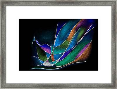 Magic Wings In Black Framed Print by Alla Ilencikova