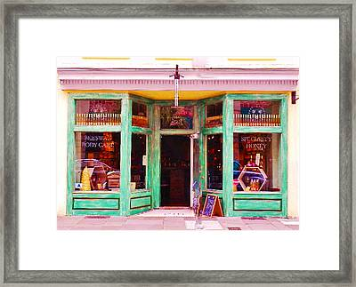 Magical Beeswax Shop Framed Print by Patricia Greer
