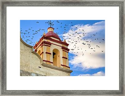 Magical Bell Tower In Mexico Framed Print