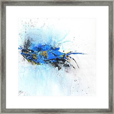 Magical Blue 1- Abstract Art Framed Print by Ismeta Gruenwald