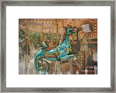 Magical Carousel Framed Print by Sabrina L Ryan