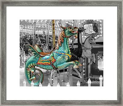 Magical Carousel Seahorse Framed Print by Sabrina L Ryan