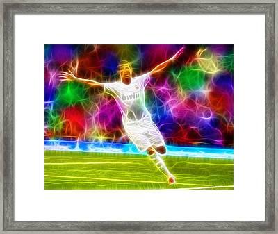 Magical Cristiano Ronaldo Framed Print by Paul Van Scott