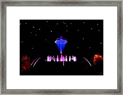 Magical Fountain Framed Print