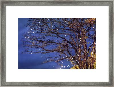 Magical In Blue Framed Print