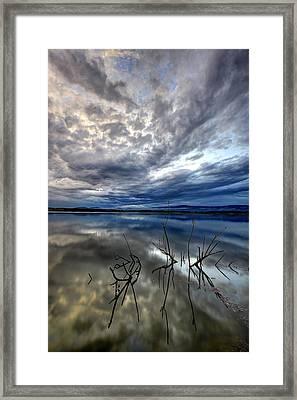 Magical Lake - Vertical Framed Print