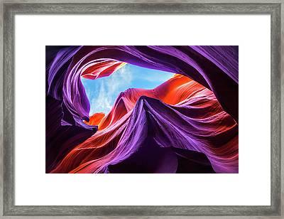 Magical Lower Antelope Canyon Framed Print