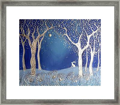 Magical Moonlight Framed Print by Angie Livingstone