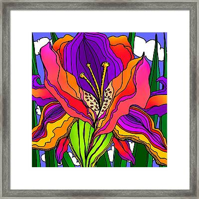 Magical Mystery Garden Framed Print