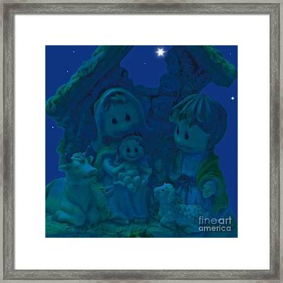 Magical Night Framed Print by Claudia Ellis