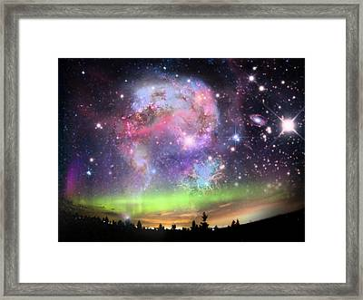 Jewels In The Sky Framed Print by Ester  Rogers