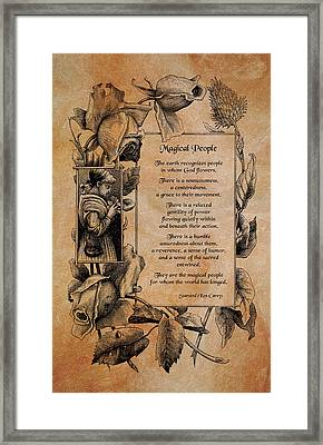 Magical People Framed Print by Mike Flynn