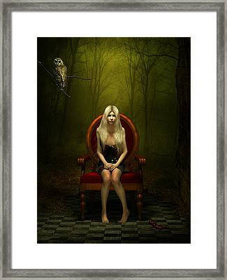 Magical Red Chair Framed Print by Britta Glodde