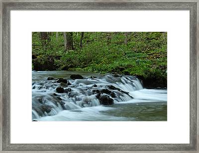 Magical River Framed Print by Julie Andel