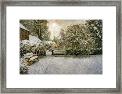 Magical Snowy Garden Framed Print by Ian Mitchell