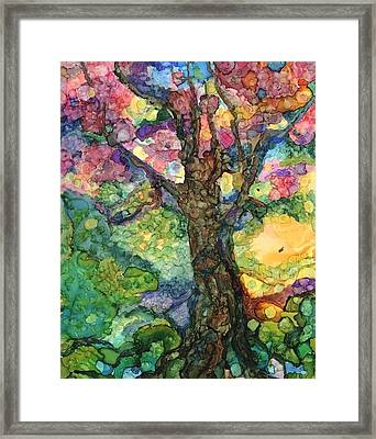 Magical Tree Framed Print by Lin Deahl