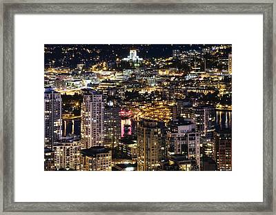 Framed Print featuring the photograph Magical Yaletown Harbor Mdxlix by Amyn Nasser