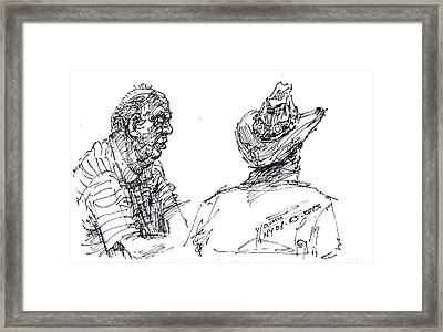 Magician And His Friend Framed Print
