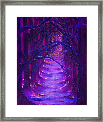 Magick Forest Framed Print by Luanna Swaney