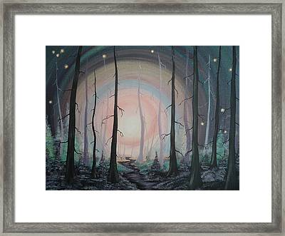 Magicle Forest Framed Print