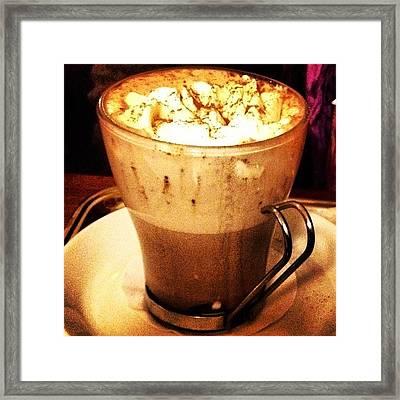 #magie Di #instagram: Il #cappuccino Framed Print