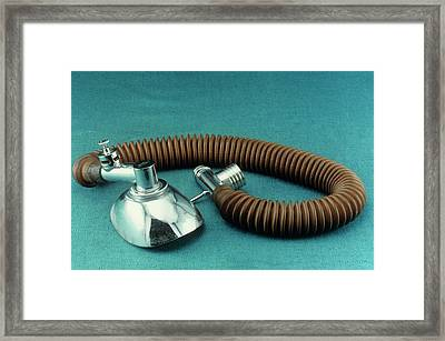 Magill Anaesthetic Circuit Framed Print by Science Photo Library