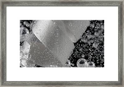 Magnesium Reacting With Acetic Acid Framed Print