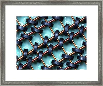 Magnetic-core Memory Array Framed Print by Pasieka